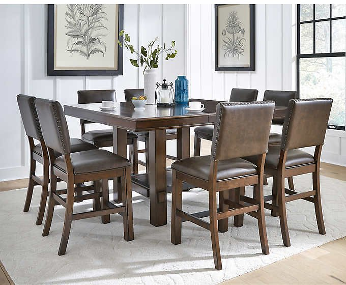 Sable 9-piece Counter Height Dining Set