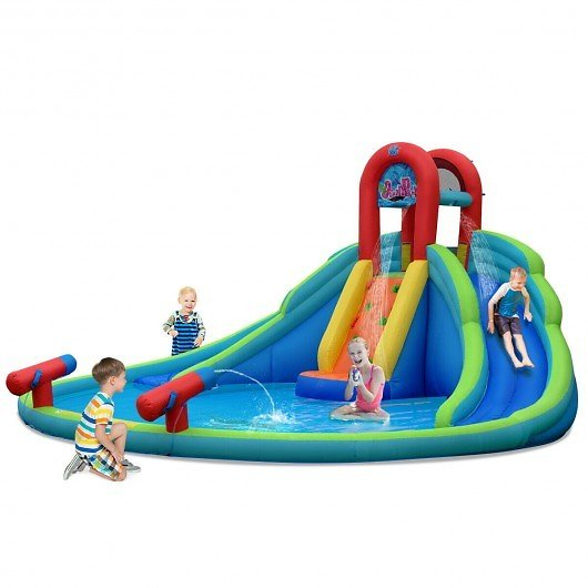 Kids Inflatable Water Slide Bounce House W/Carry Bag