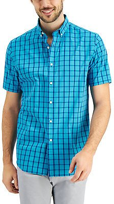 84% OFF! Club Room Men's Short Sleeve Printed Shirt, Created for Macy's & Reviews - Casual Button-Down Shirts - Men