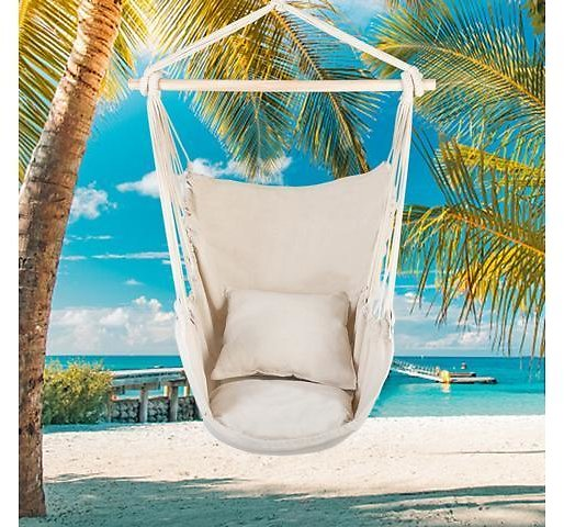 Chair Hanging Rope Swing Hammock Outdoor Porch Patio Yard Seat with 2 Pillows - Newegg.com