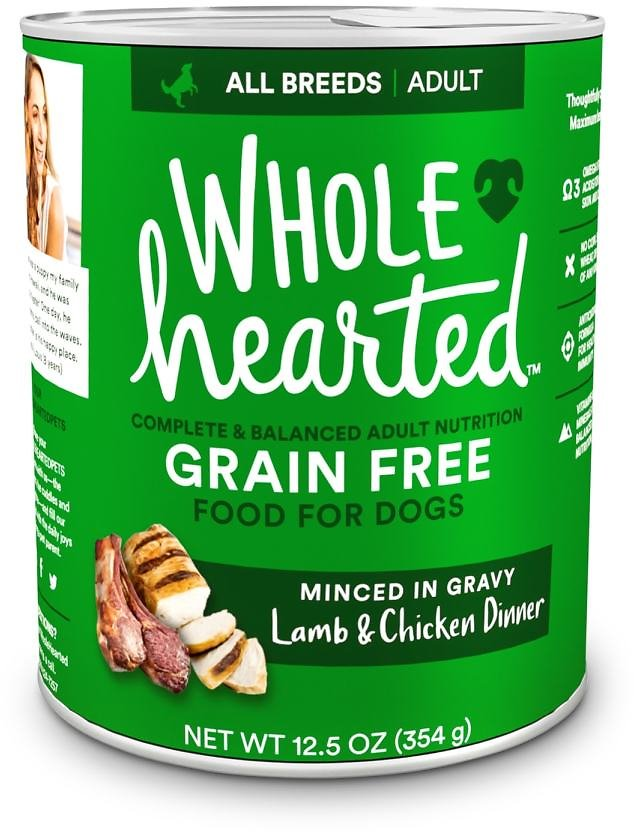 WholeHearted Grain-Free Adult Lamb and Chicken Dinner Wet Dog Food, 12.5 Oz., Case of 8 | Petco