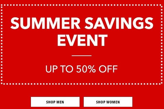 Up to 50% Off Summer Savings Event