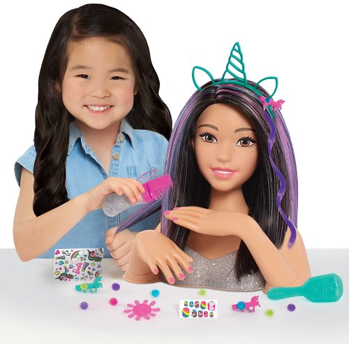 Barbie Deluxe 20-Piece Glitter and Go Styling Head