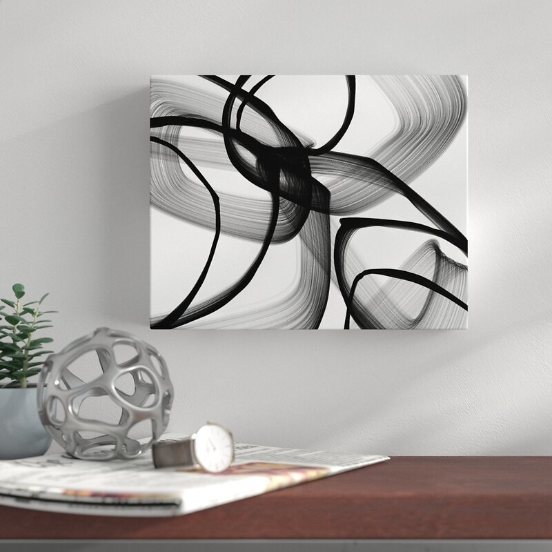 'Abstract Poetry in Black and White 100' By Irena Orlov Graphic Art
