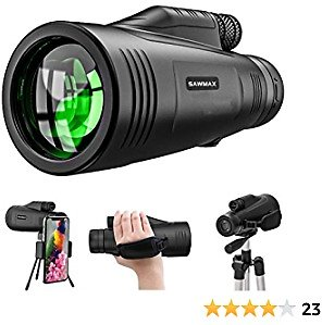 Monocular Telescope,Newest12x50 High Definition,with Quick Smartphone Holder,Newest Waterproof Monocular,Day & Low Night Vision,BAK4 Prism for Wildlife Bird Watching Hunting