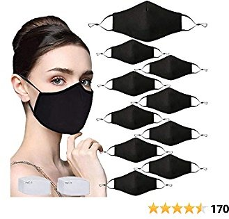 10 Pcs Adult Unisex Reusable Face Mask with Filter Pocket