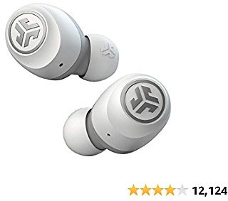 JLab Go Air True Wireless Bluetooth Earbuds + Charging Case | Dual Connect | IP44 Sweat Resistance | Bluetooth 5.0 Connection | 3 EQ Sound Settings: JLab Signature, Balanced, Bass Boost… (White)