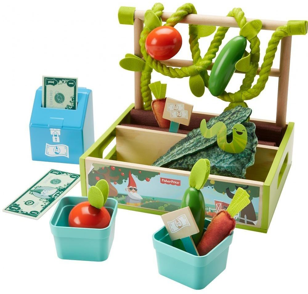 Fisher-Price Farm-to-Market Stand, 21-Piece Pretend Food Play Set for Preschoolers