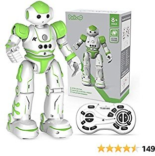 Pickwoo RC Robot Toy, Remote Control Robot Intelligent Programmable Gesture Sensing, Singing, Dancing, Smart Educational Robot Birthday Children's Day Gift for Kids Boys Girls Age 3-12 (Green)