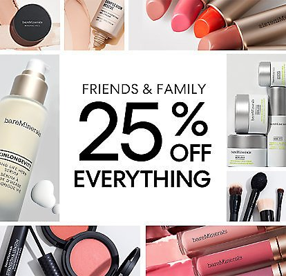 25% Off Friends & Family BareMinerals Beauty Sale