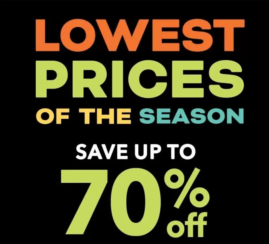 Up To 70% Off Lowest Prices of The Season & More