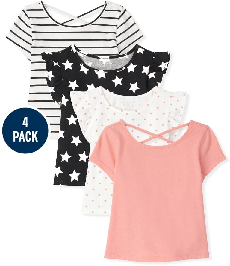 Toddler Girls Basic Layering Tee And Tank Top 4-Pack | The Children's Place