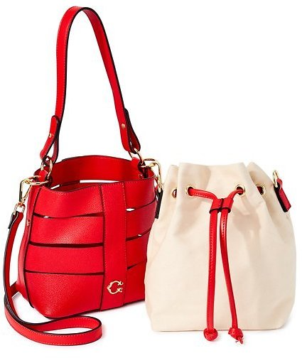 Price drop!! C. Wonder Sophia Vegan Leather Caged Convertible Crossbody with Canvas Pouch