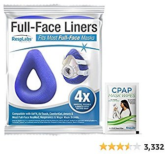 RespLabs CPAP Mask Liners for Full Face Masks - Universal 4 Pack - Moisture Wicking, Pressure Reducing, Comfort Enhancing. Super Soft, Washable, Cotton Covers.