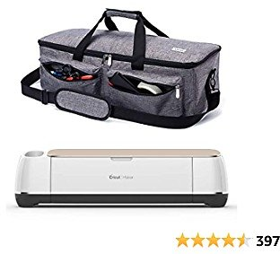 ARSH Carrying Case Compatible with Cricut Explore Air and Maker, Tote Bag Compatible with Cricut Explore Air 2 and Silhouette Cameo 3,No Accessories Included (Grey)