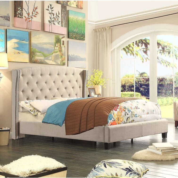 81% off Apolo Tufted Upholstered Low Profile Standard Bed