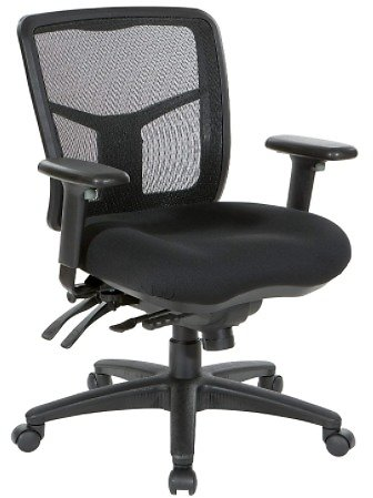 Office Star ProGrid Mid Back Managers Chair with Adjustable Arms