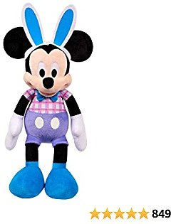 Disney Spring 19-Inch Mickey Mouse Large Plush, Mickey Mouse in Bunny Outfit with Ears, Amazon Exclusive