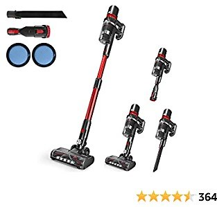Micol Cordless Vacuum Cleaner, 27Kpa Powerful Suction 4 in 1 Stick Vacuum with 350W Brushless Motor, Up to 45 Mins Max Runtime Detachable Battery for Home Hard Floor Carpet Pet Hair, MC021