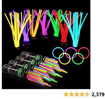 400 Glow Sticks Bulk Party Supplies - Glow in The Dark Fun Party Favors Pack with 8