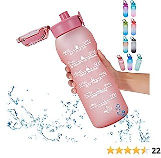 Goothdurs 50oz/0.4 Gallon Motivational Water Bottle with Time Marker – Water Tracker Bottles with Times to Drink BPA Free & Leakproof for Gym,Outdoor and Office