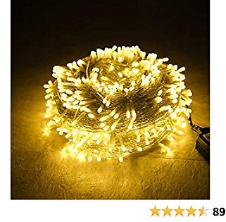 Sheila 65.6 Feet 200LED String Lights 8 Mode Flashing Controller Fairy Twinkle Decorative Lights for Kid's Bedroom, Wedding, Chirstmas Tree, Festival Party, Garden, Patio, Room Decoration (Warm White)