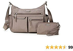 Baggallini New Classic Heritage Anywhere Large Hobo with RFID Phone Wristlet
