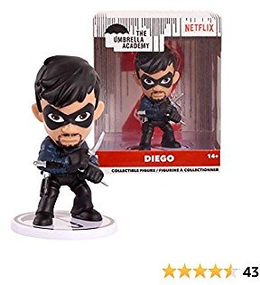 """The Umbrella Academy 3"""" Stylized Collectible Figure- Diego, Multi-Color"""