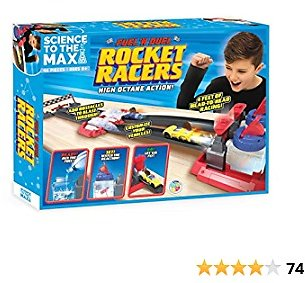 Be Amazing! Toys Science to The Max DIY Rocket Race Car Science Experiment for Kids & Teens - STEM Chemistry Kit for Boys and Girls - Make Your Own Water Race Rocket with Race Track for Ages 8+