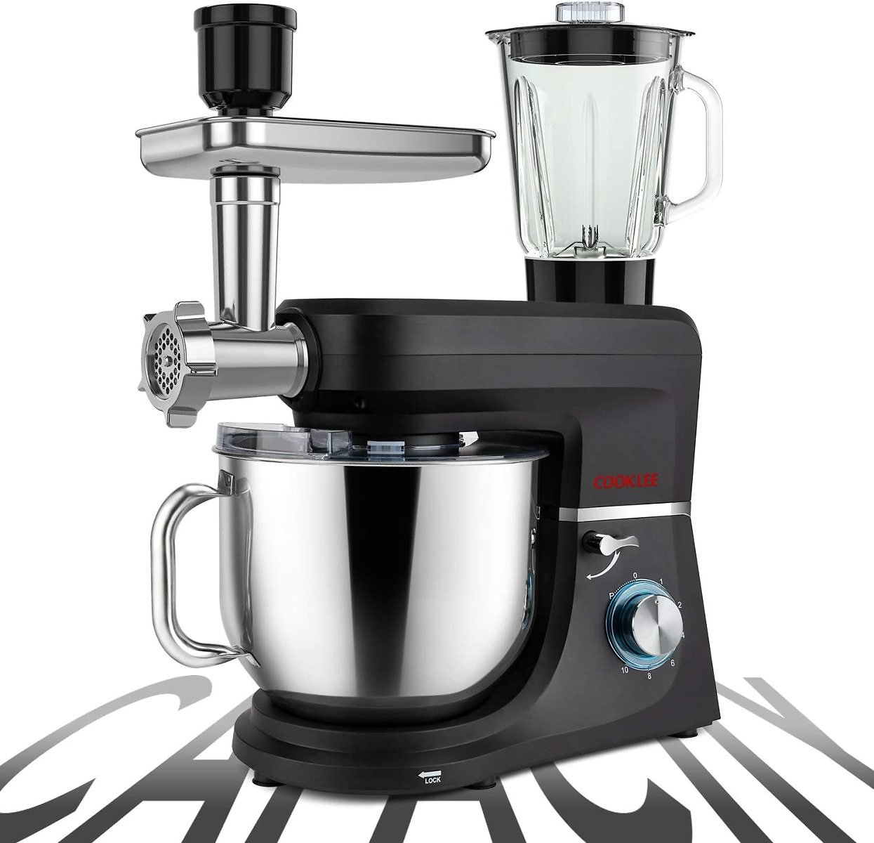 Prime Day Deal: 8.5 Qt 6-IN-1 Multifunctional Electric Kitchen Mixer with 9 Accessories