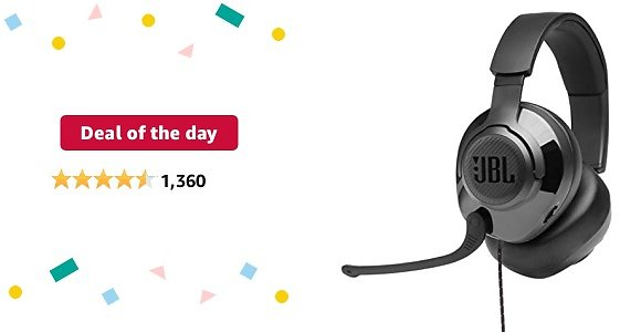 Deal of The Day for Prime Members: JBL Quantum 300 - Wired Over-Ear Gaming Headphones with JBL Quantum Engine Software - Black