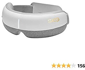 SKG Eye Massager with Heat Compression, Air Pressure, Bluetooth Music, E3 Rechargeable Eye Therapy Massager for Relieve Eye Strain Dry Eye Dark Circles Improve Sleep, Women Men Father's Day Gifts