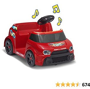 Radio Flyer DJ Dance and Spin, Toy Electric Ride On, Battery Powered Dancing Car, Ages 1 1/2 to 4 Years