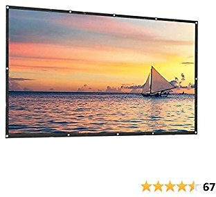 Hzgang Thick Rear & Frontal Projector Screen Indoor Outdoor Portable Movie Screens 16:9 HD Projection 4K Home Theater Gaming Office Presentation Education Public Display (100inch Thick)