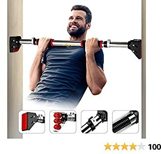 Vinsguir Pull Up Bar for Doorway Pullup Bar, Chin Up Bar No Screw, Upper Body Workout Bar for Home Gym Exercise, 28.3-36.2 Adjustable Width - with Locking Mechanism &440LBS