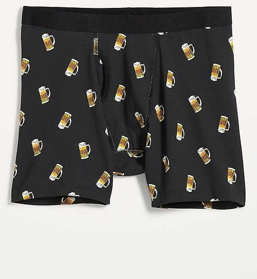 Soft-Washed Printed Boxer Briefs for Men   Old Navy