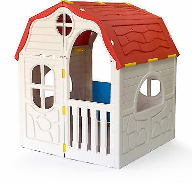 Ram Quality Products Cottage Foldable Plastic Toddler Playhouse