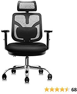 HARBLAND Ergonomic Office Chair, Home Office Desk Chair High Back Chair with Adjustable Headrest Backrest Armrest for Home Office Computer Desk