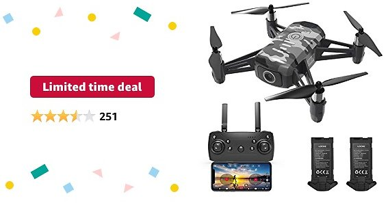 Limited-time Deal: HR Drone For Kids With 1080p HD FPV Camera,Mini Quadcopter For Beginners With Altitude Hold,One Key Start/Land,Draw Path,2 Modular Batteries,Remote Control Toys Gifts for Boys Girls