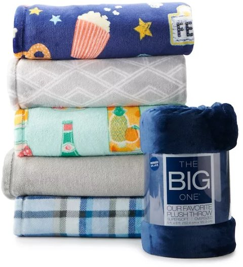 The Big One Oversized Supersoft Plush Throw 60x72-inch