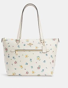 Coach Gallery Tote With Wild Meadow Print