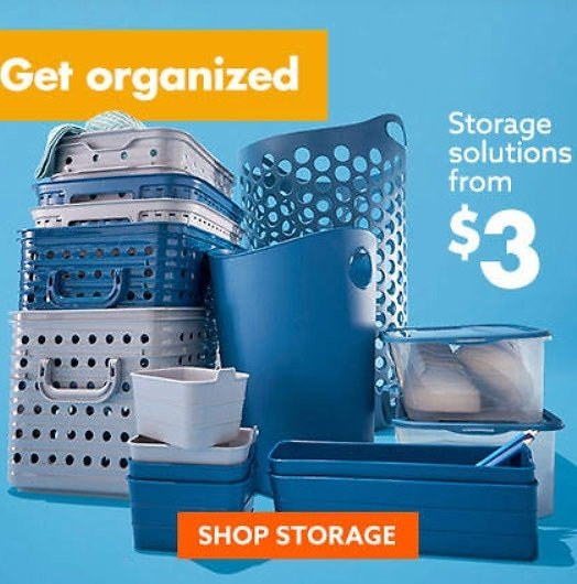 Storage Solutions Starting at $3