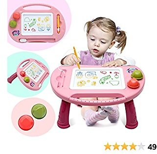 Toys for 1-2 Year Old Girls,Magnetic Drawing Board,Kids Toys for Girls,Magna Erasable Etch A Colorful Sketch Toys for Toddlers,Writing Doodle Table Toys for Girls Boys Age 2-3 Birthday Gifts