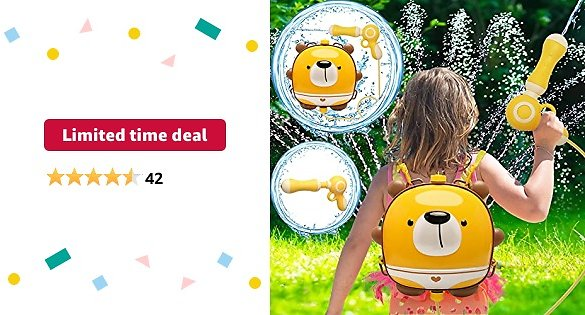 Limited-time Deal: Pool Toys,Water Guns Toys for Girls Boys,Outdoor Games,Backpack Water Toys for Kids Toddlers,Large Capacity 1998CC Water Toys for 3-5 Year Old Boys Girls,Squirt Water Gun,Summer Gift for Kids Ages 4-8