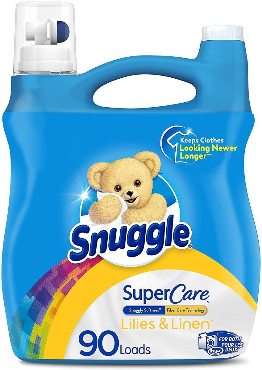 90 Loads Snuggle Lilies and Linen SuperCare Liquid Fabric Softener 90 Loads Snuggle Lilies and Linen SuperCare Liquid Fabric So