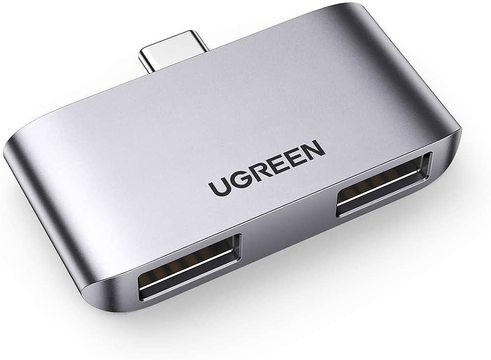 Ugreen USB-C to Dual USB-A Adapter for $6.25