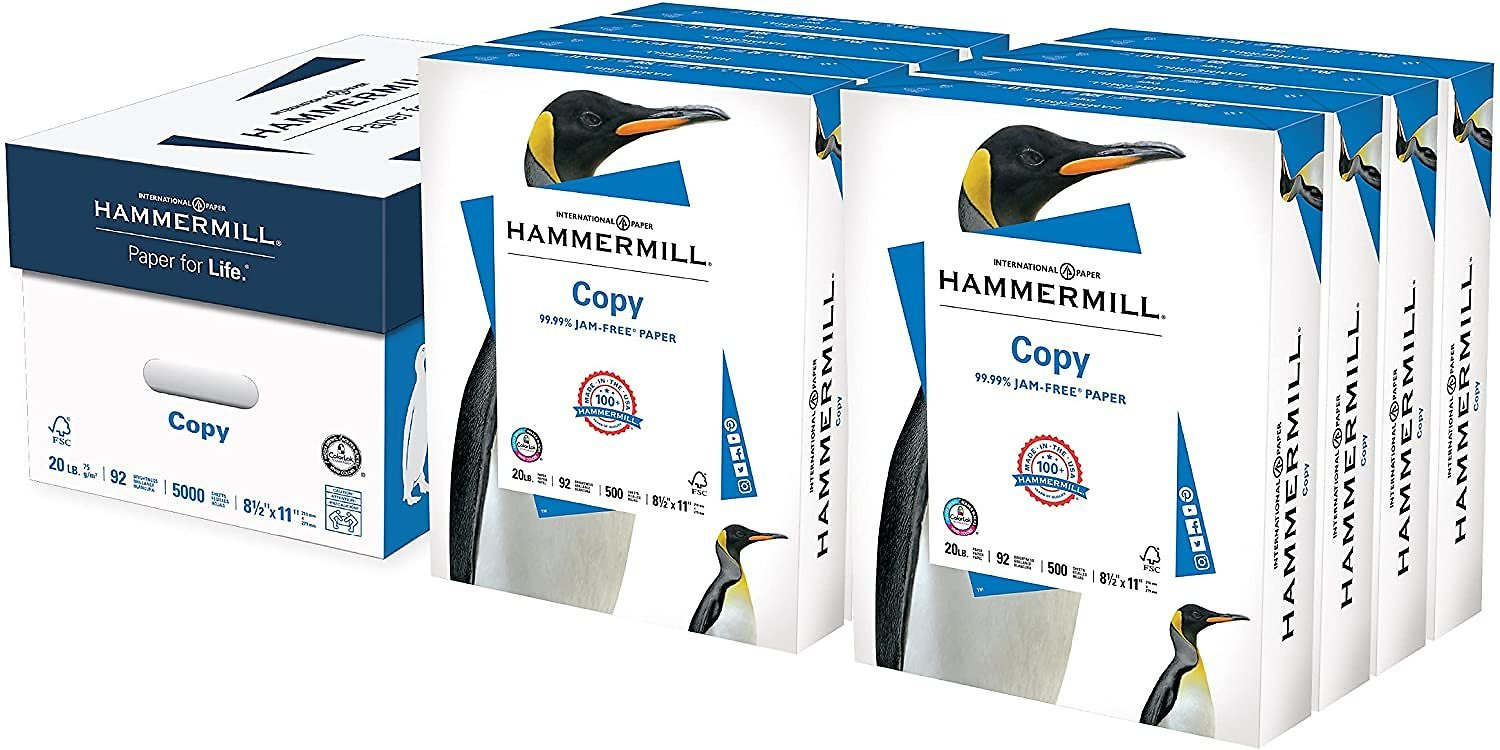 8-Ream (4000 Sheets) Hammermill 8.5 X 11 Inch 20lb Acid Free Copy Paper for $28.29
