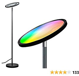 Floor Lamps for Living Room BRTLX LED Floor Lamp Modern Standing Lamp with Touch/Voice Control, Mutli-Color Changing, Compatible with Smart Phone APP Amazon Alexa Google