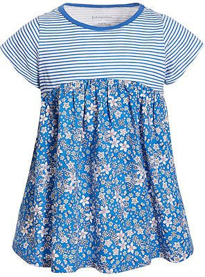 Baby Girls Cotton Striped Floral Tunic