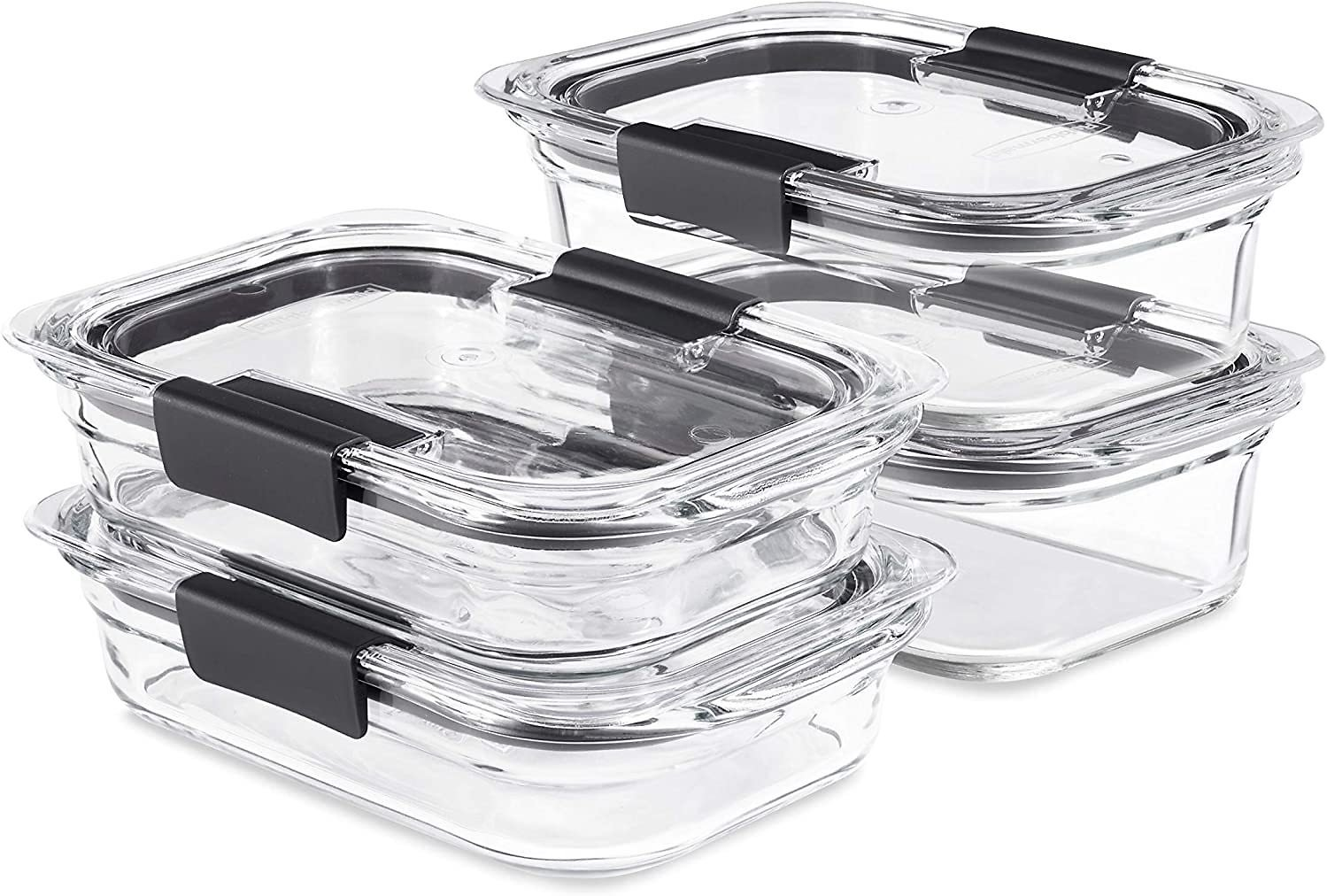 4-Set Rubbermaid Brilliance Glass Storage Food Containers with Lids for $23.57